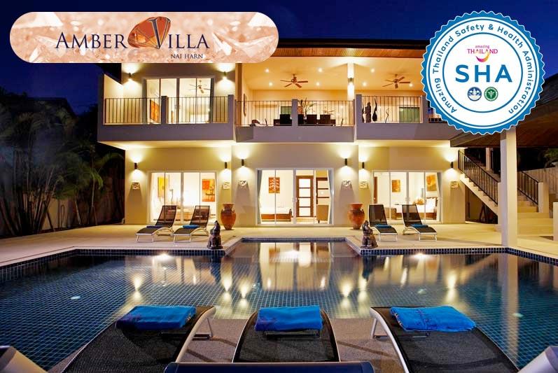 amber villa SHA approved luxury accommodation nai harn phuket