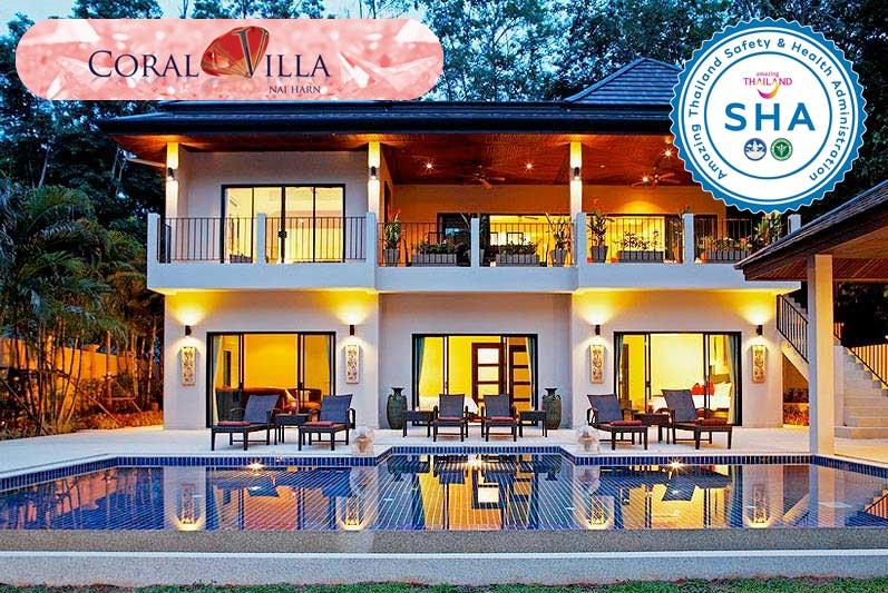 coral villa SHA approved luxury accommodation nai harn phuket
