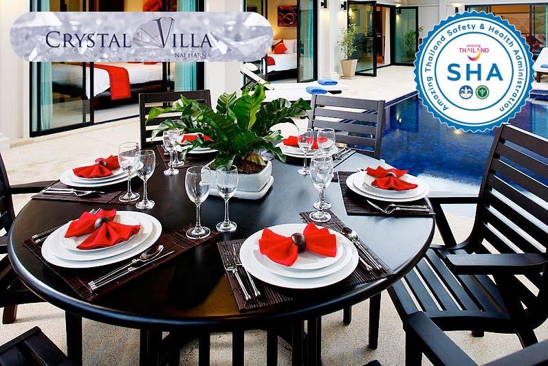 crystal villa SHA approved luxury accommodation nai harn phuket