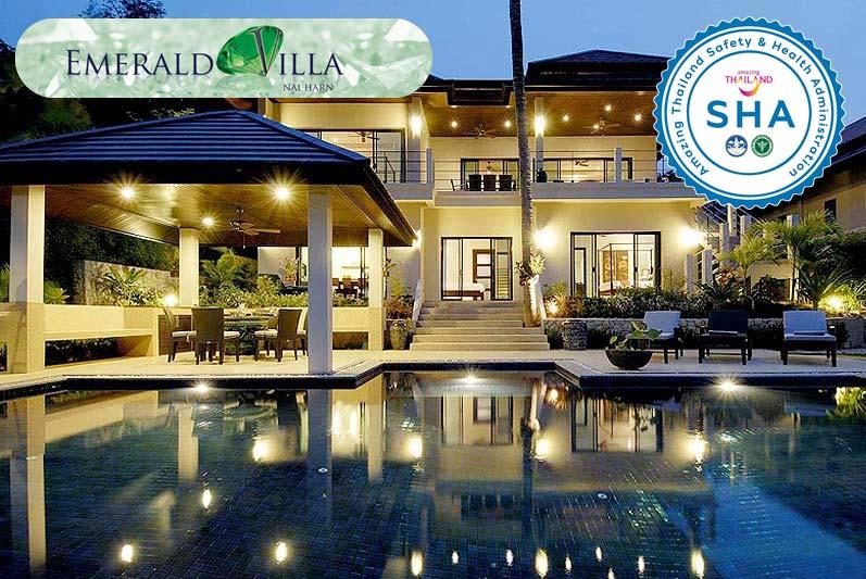 emerald villa SHA approved luxury accommodation nai harn phuket