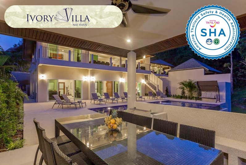 ivory villa SHA approved luxury accommodation nai harn phuket