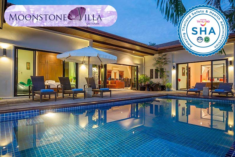 moonstone villa SHA approved luxury accommodation nai harn phuket