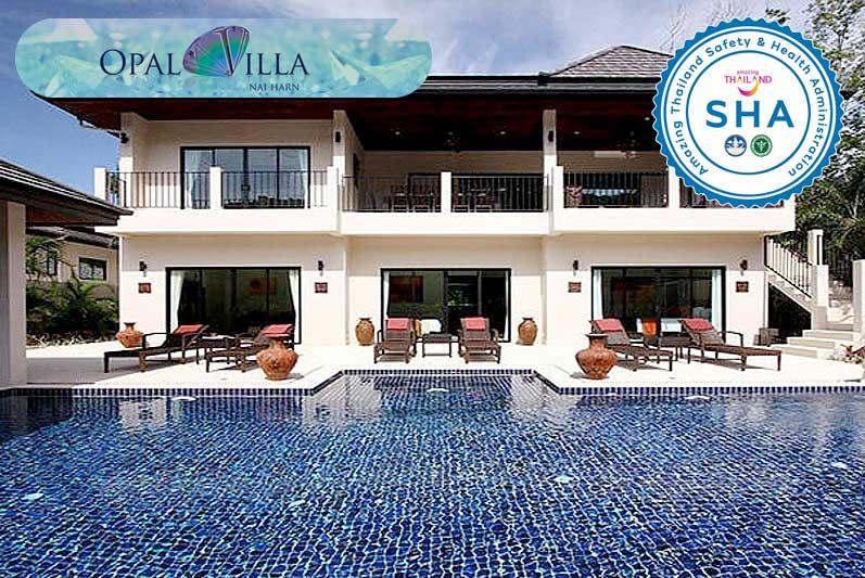 opal villa SHA approved luxury accommodation nai harn phuket