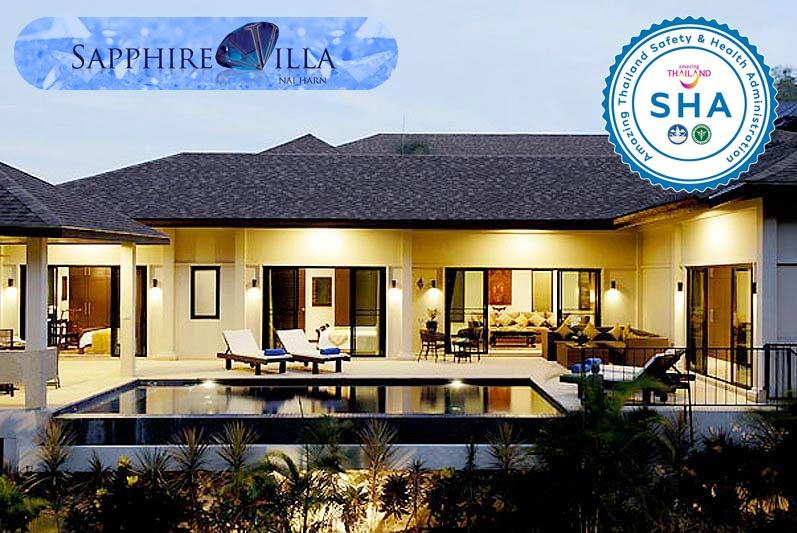 sapphire villa SHA approved luxury accommodation nai harn phuket