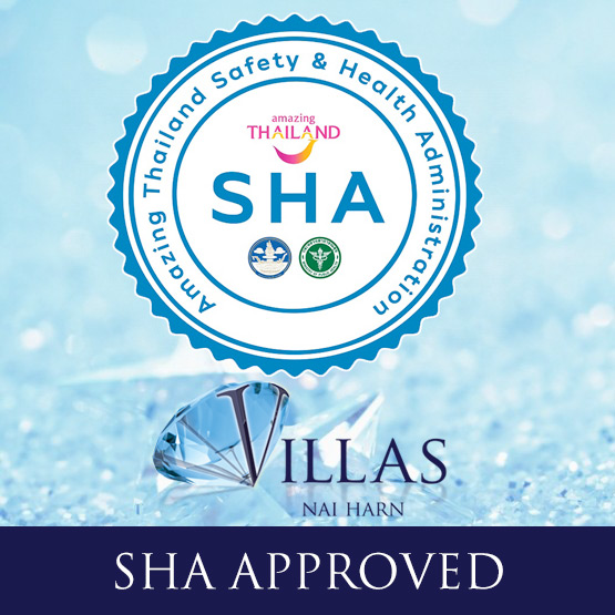 the villas nai harn, phuket, thailand has been awarded the SHA Plus+ certificate as being covid safe and approved for holiday travel accommodation