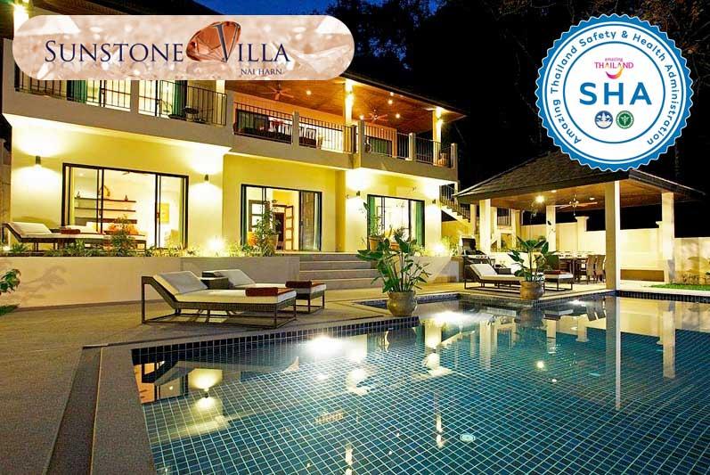 sunstone villa SHA approved luxury accommodation nai harn phuket