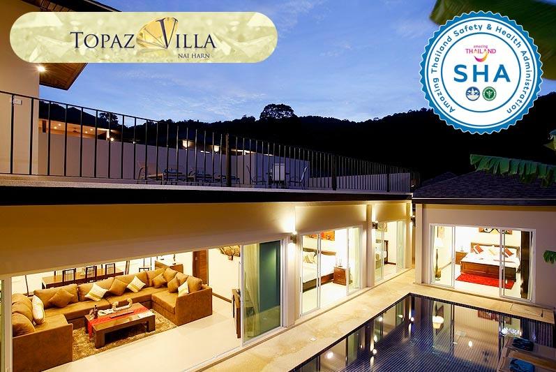 topaz villa SHA approved luxury accommodation nai harn phuket
