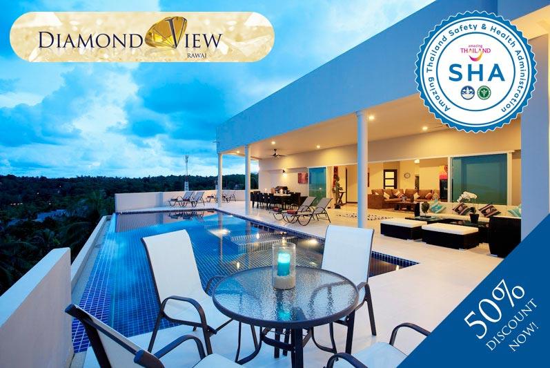 diamond view SHA approved luxury accommodation nai harn phuket