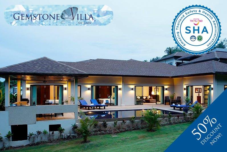 gemstone villa SHA approved luxury accommodation nai harn phuket
