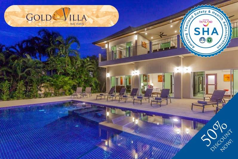 gold villa SHA approved luxury accommodation nai harn phuket