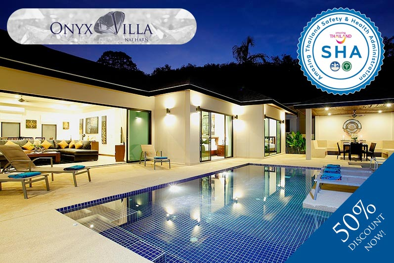 onyx villa SHA approved luxury accommodation nai harn phuket