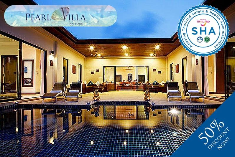 pearl villa SHA approved luxury accommodation nai harn phuket