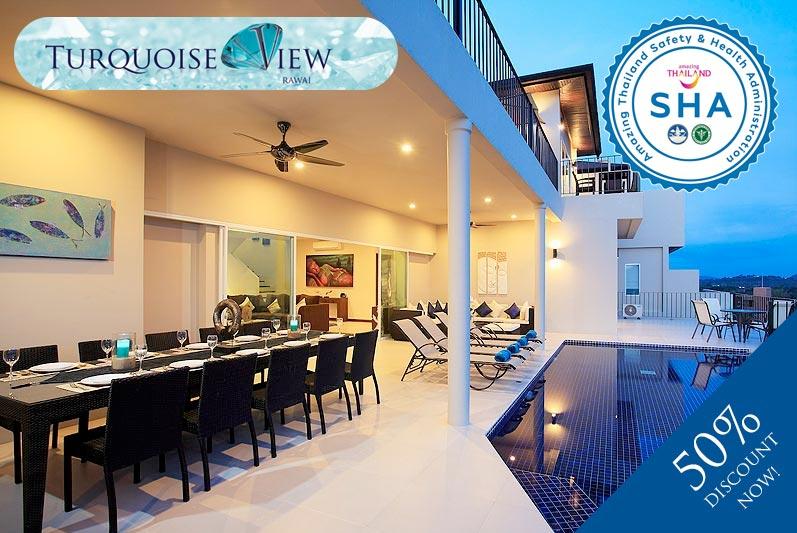 turquoise view SHA approved luxury accommodation nai harn phuket