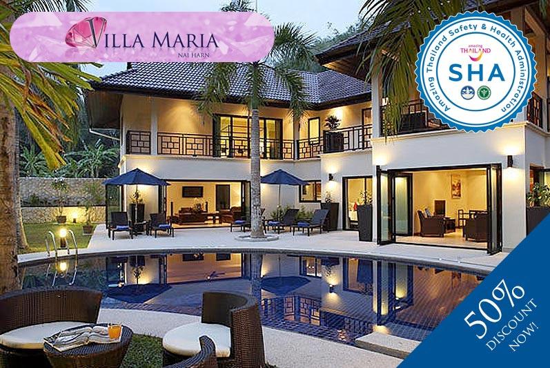 villa maria SHA approved luxury accommodation nai harn phuket